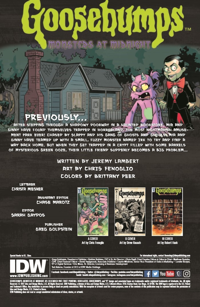 Goosebumps_MaM_03-pr-2 ComicList Previews: GOOSEBUMPS MONSTERS AT MIDNIGHT #3