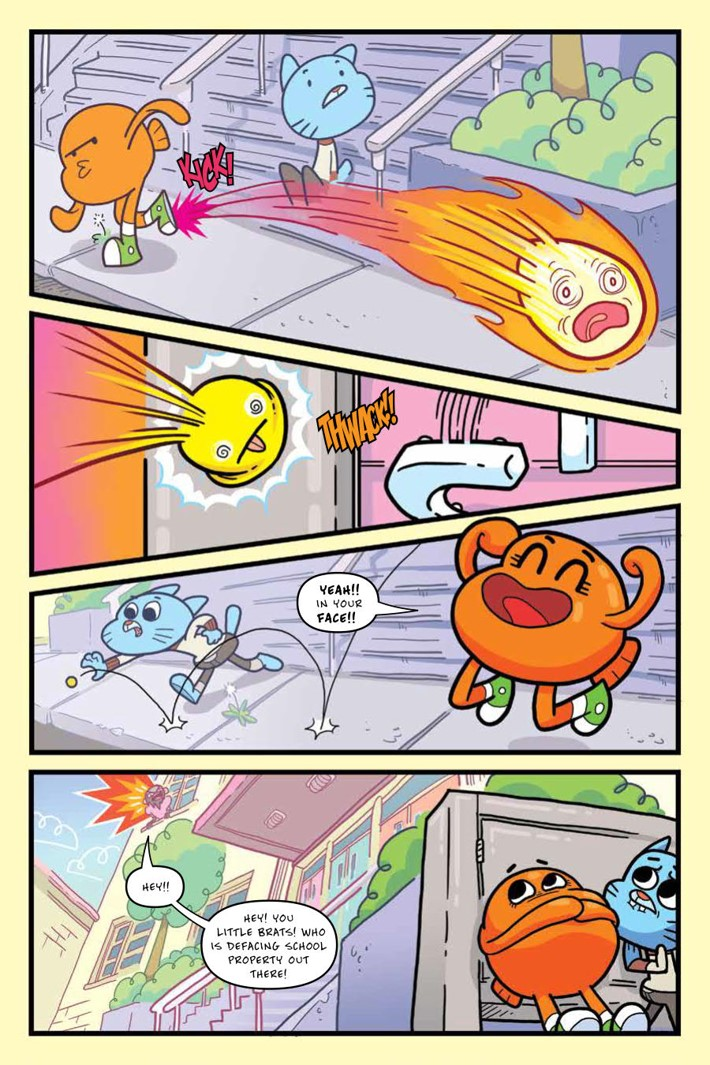 Gumball_OGN_v4_ScrimmageScramble_PRESS_10 ComicList Previews: THE AMAZING WORLD OF GUMBALL VOLUME 4 SCRIMMAGE SCRAMBLE GN