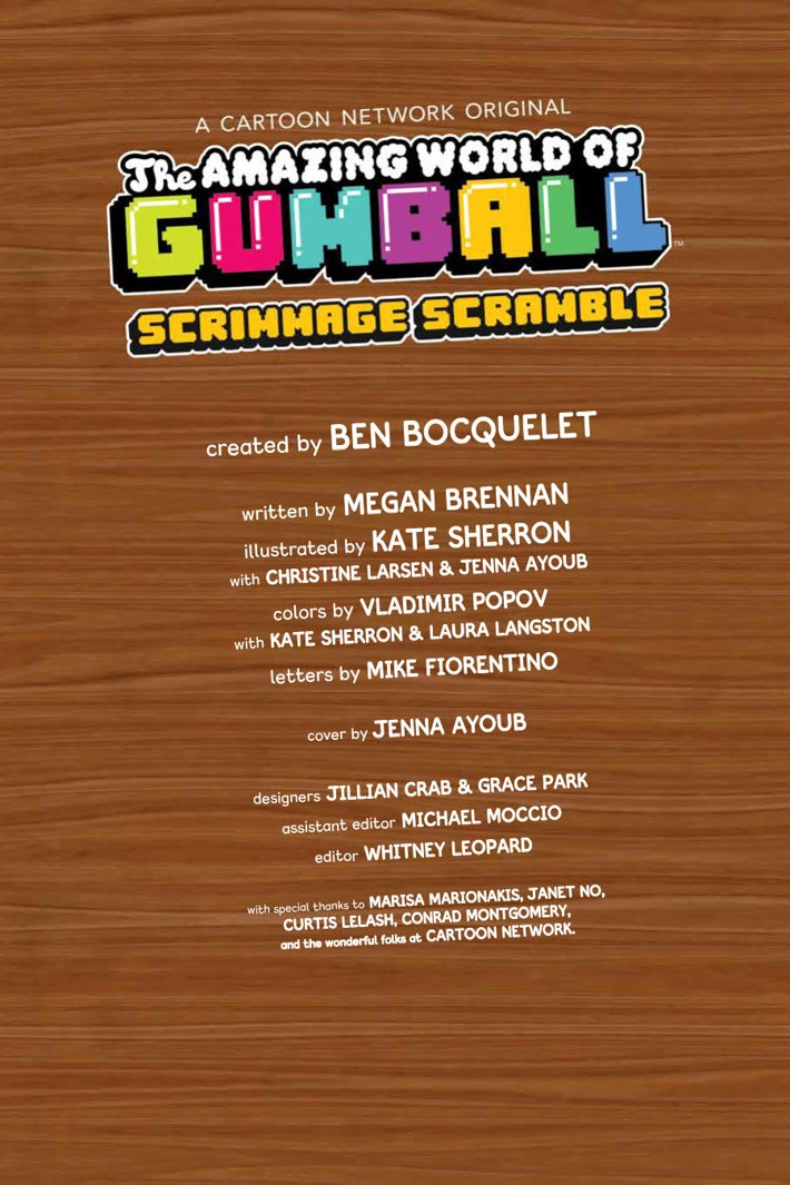 Gumball_OGN_v4_ScrimmageScramble_PRESS_5 ComicList Previews: THE AMAZING WORLD OF GUMBALL VOLUME 4 SCRIMMAGE SCRAMBLE GN