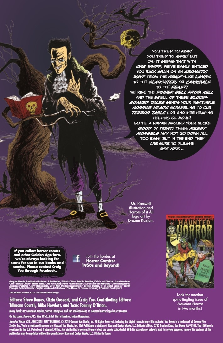 Haunted_Horror_34-pr-2 ComicList Previews: HAUNTED HORROR #34
