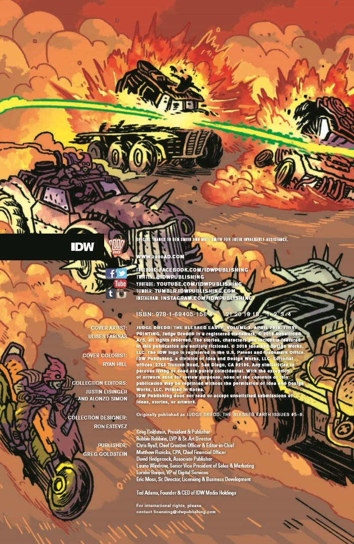 JudgeDredd_BlessedEarth_v2-pr-2 ComicList Previews: JUDGE DREDD THE BLESSED EARTH VOLUME 2 TP