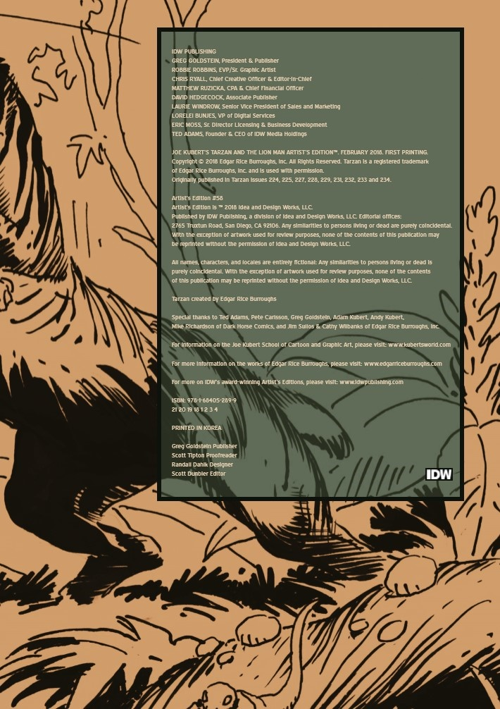Kubert_Tarzan_LionMan_AE-pr-2 ComicList Previews: JOE KUBERT'S TARZAN AND THE LION MAN AND OTHER STORIES ARTIST'S EDITION HC