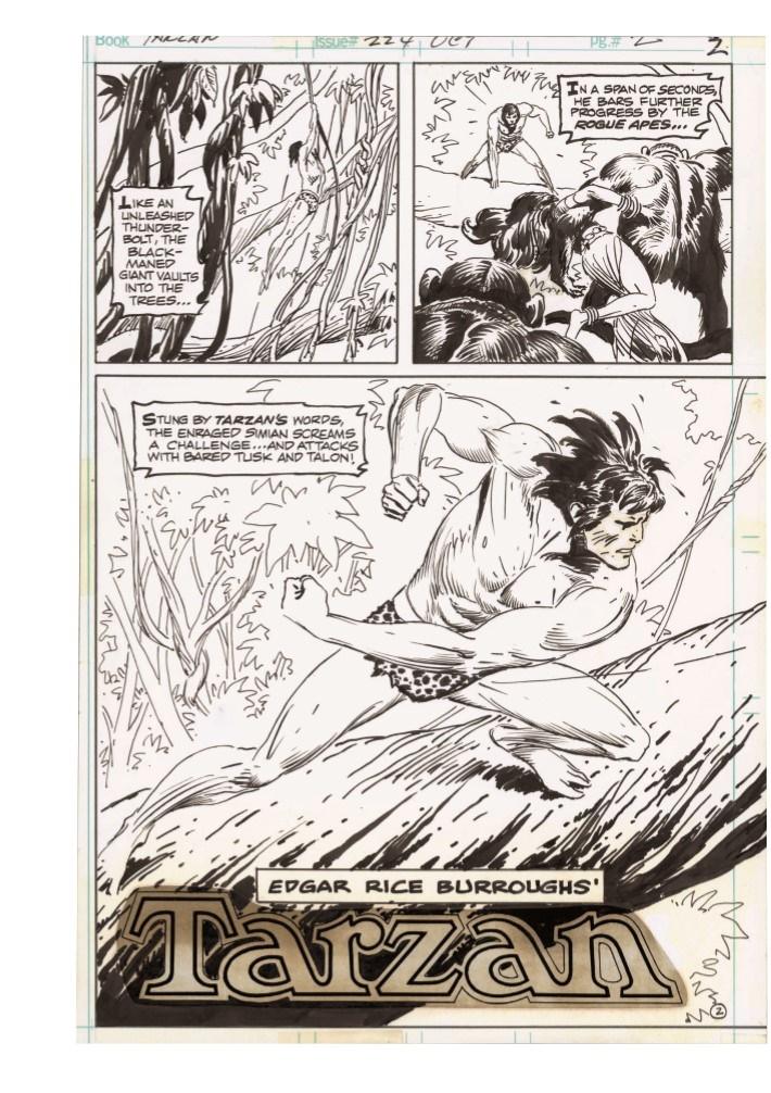 Kubert_Tarzan_LionMan_AE-pr-5 ComicList Previews: JOE KUBERT'S TARZAN AND THE LION MAN AND OTHER STORIES ARTIST'S EDITION HC