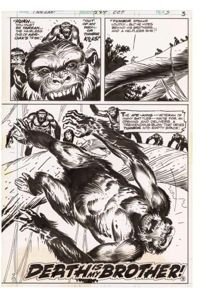 Kubert_Tarzan_LionMan_AE-pr-6 ComicList Previews: JOE KUBERT'S TARZAN AND THE LION MAN AND OTHER STORIES ARTIST'S EDITION HC