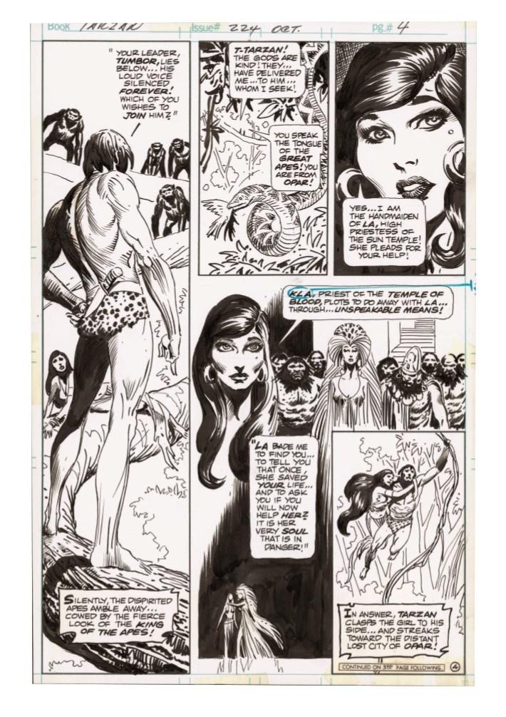 Kubert_Tarzan_LionMan_AE-pr-7 ComicList Previews: JOE KUBERT'S TARZAN AND THE LION MAN AND OTHER STORIES ARTIST'S EDITION HC