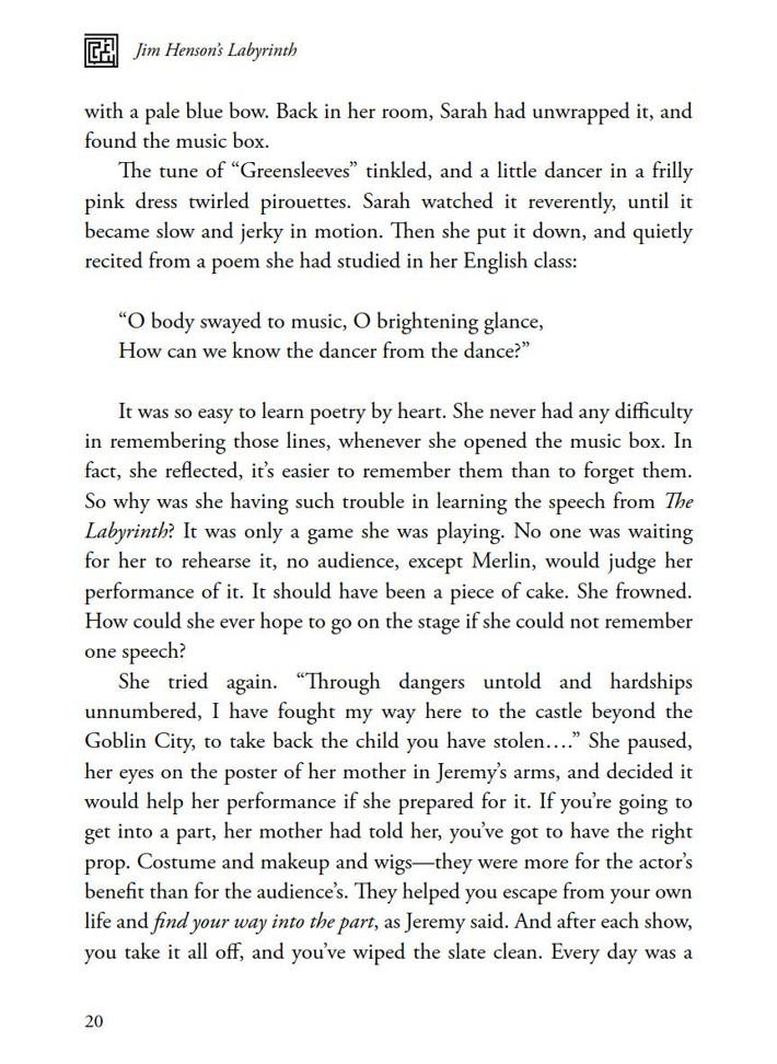 Labyrinth_Novelization_SC_PRESS_22 ComicList Previews: JIM HENSON'S LABYRINTH THE NOVELIZATION SC
