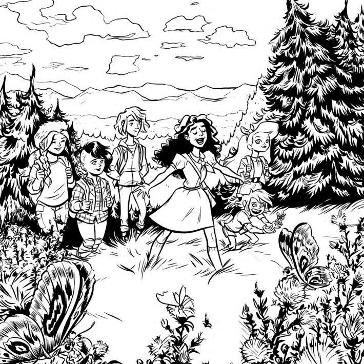 Lumberjanes_ColoringBook_Press_11 ComicList Previews: LUMBERJANES COLORING BOOK TP