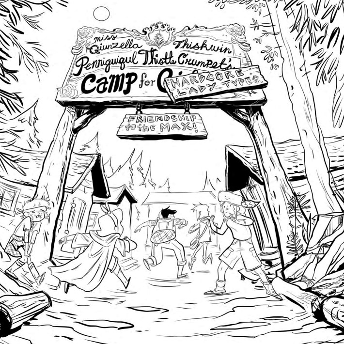 Lumberjanes_ColoringBook_Press_5 ComicList Previews: LUMBERJANES COLORING BOOK TP