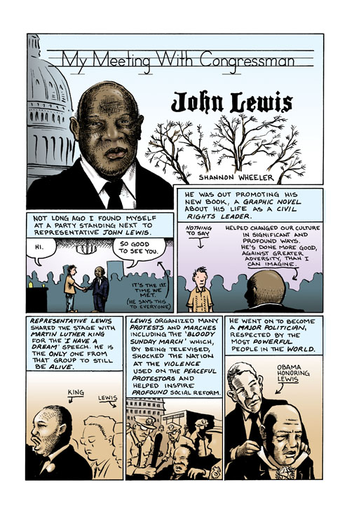 Memoirs_JohnLewis ComicList Previews: MEMOIRS OF A VERY STABLE GENIUS TP