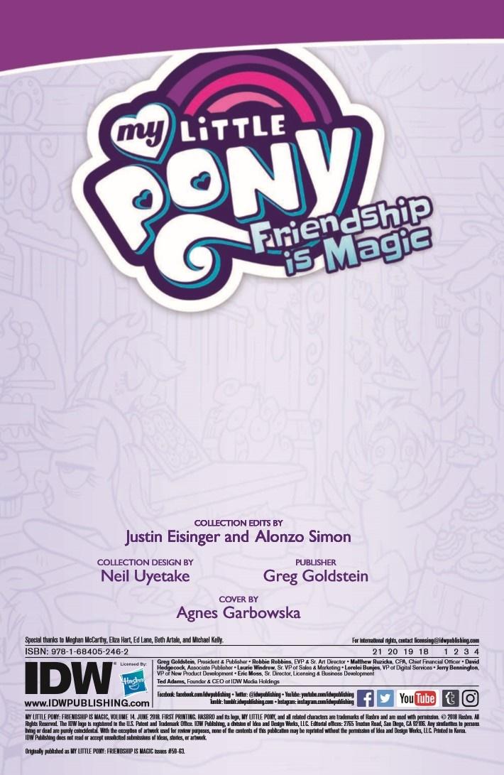 MyLittlePony_FiM_vol14-pr-2 ComicList Previews: MY LITTLE PONY FRIENDSHIP IS MAGIC VOLUME 14 TP