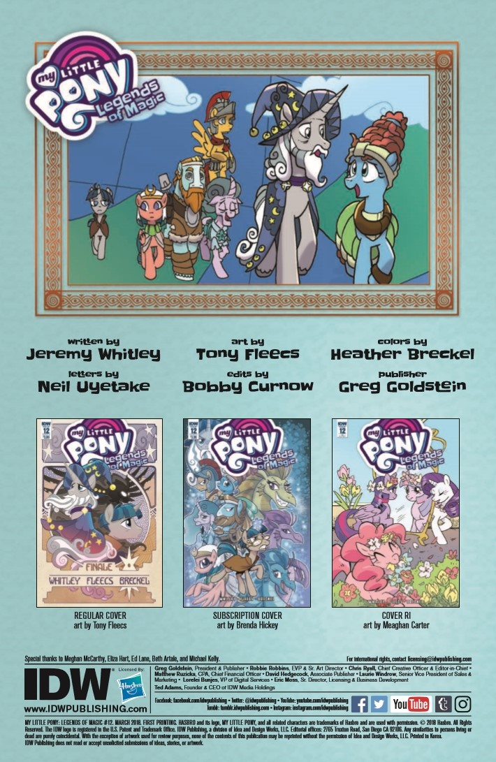 MyLittlePony_LoM_12-pr-2 ComicList Previews: MY LITTLE PONY LEGENDS OF MAGIC #12