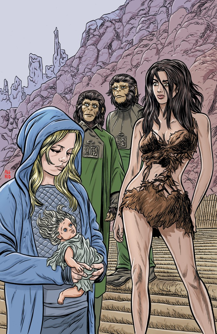 POTA_TimeofMan_001_B_Variant ComicList Previews: PLANET OF THE APES THE TIME OF MAN #1