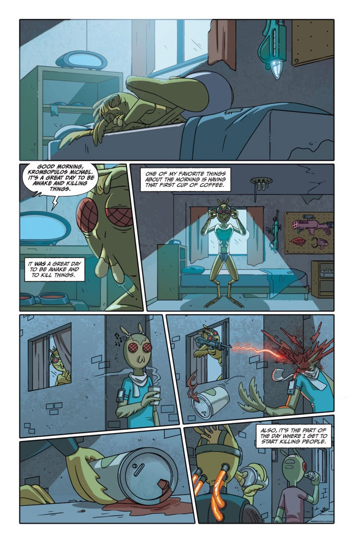 Pages-from-RICKMORTY-PRESENTS-KROMBOPULOS-1-2 ComicList Previews: RICK AND MORTY PRESENTS KROMBOPULOUS MICHAEL #1