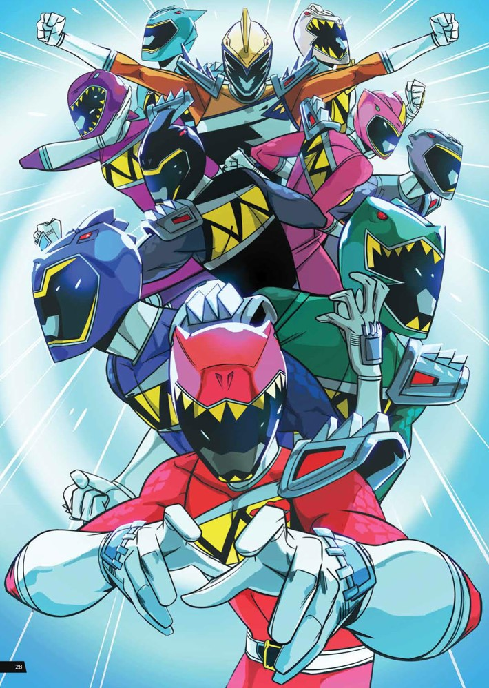 PowerRangers_ArtistTribute_HC_PRESS_30 ComicList Previews: SABAN'S POWER RANGERS ARTIST TRIBUTE HC