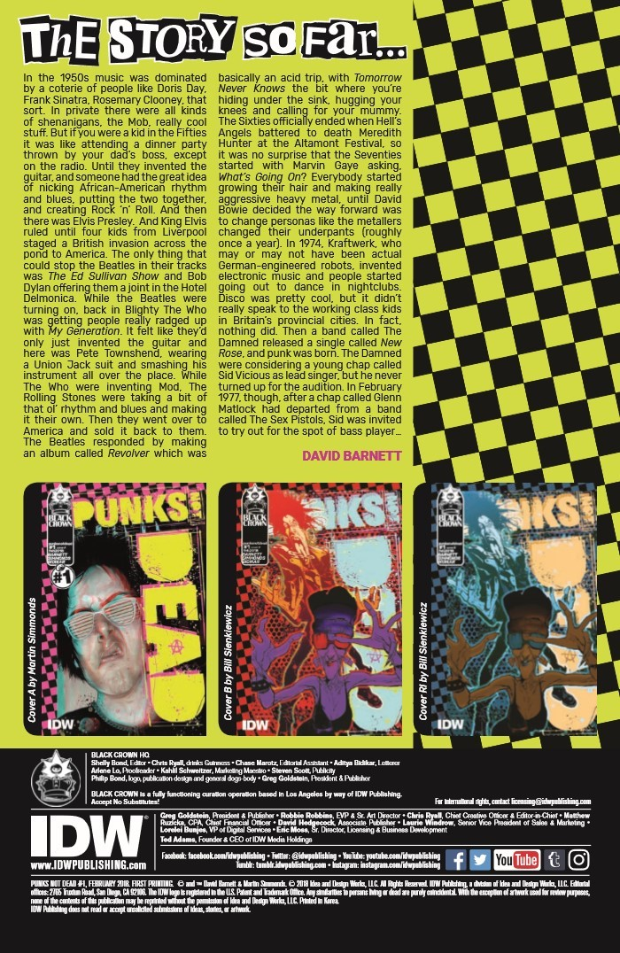 PunksNotDead_01-pr-2 ComicList Previews: PUNKS NOT DEAD #1