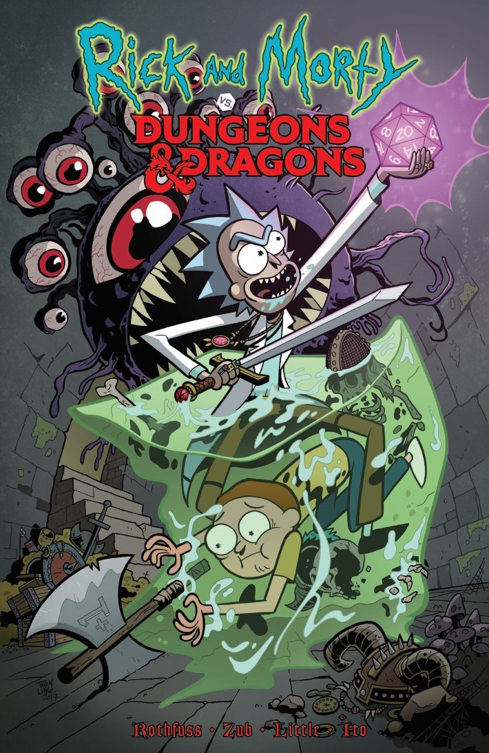 Rick_Morty_DnD_TPB-pr-1 ComicList Previews: RICK AND MORTY VS DUNGEONS AND DRAGONS TP