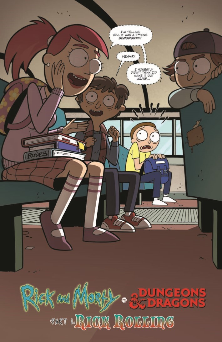 Rick_and_Morty_Dungeons_Dragons_01-pr-3 ComicList Previews: RICK AND MORTY VS DUNGEONS AND DRAGONS #1