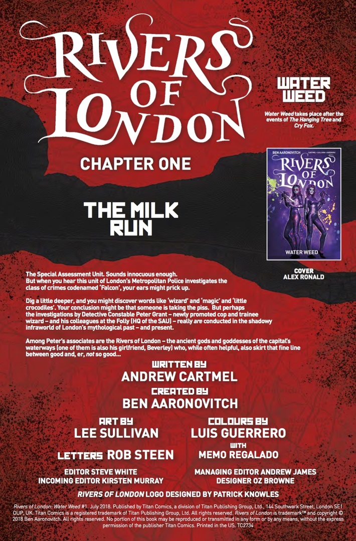 Rivers_of_London_Water_Weed_1_Credits ComicList Previews: RIVERS OF LONDON WATER WEED #1