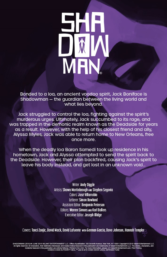 SM2018_004_001 ComicList Previews: SHADOWMAN (2018) #4