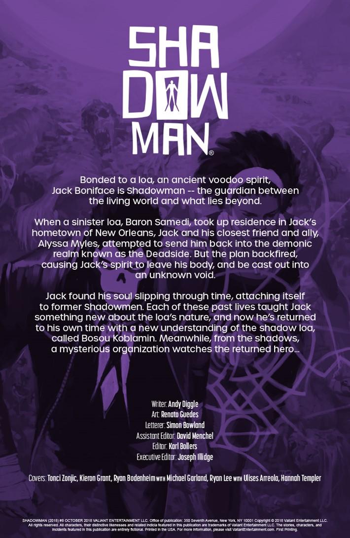 SM2018_008_001 ComicList Previews: SHADOWMAN (2018) #8