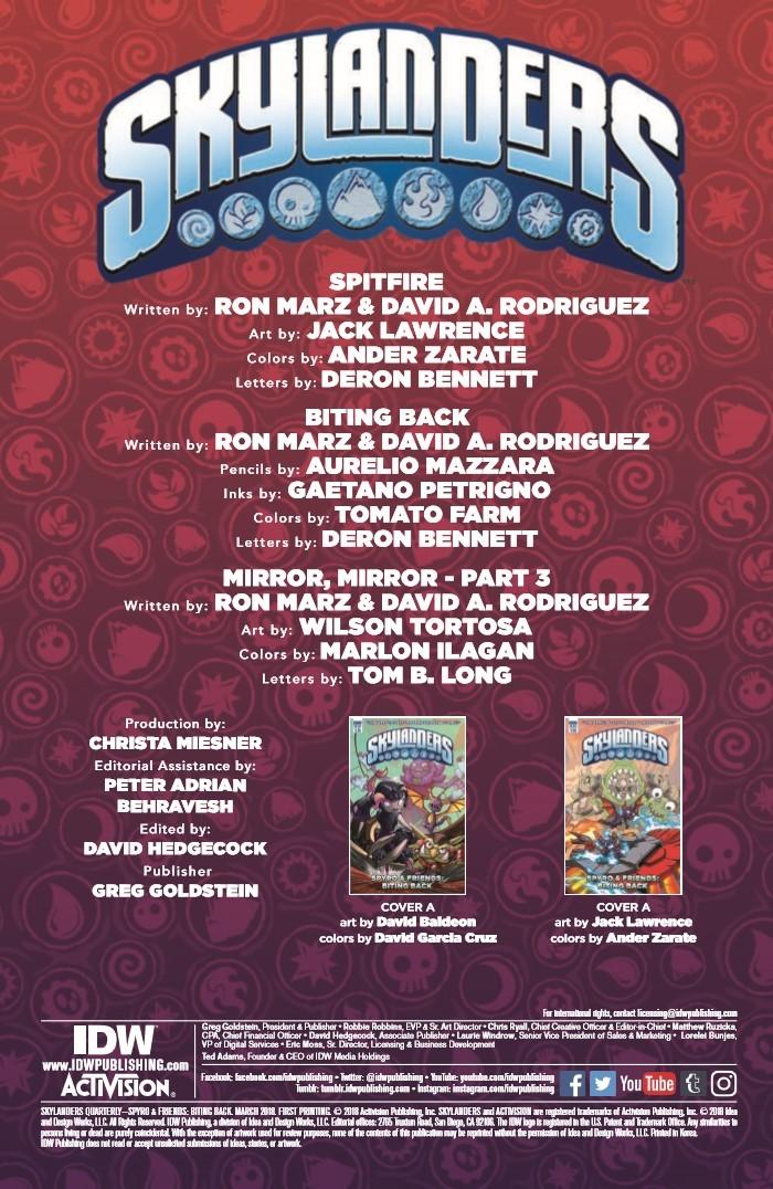 SkylandersQuarterly_BitingBack-pr-2 ComicList Previews: SKYLANDERS QUARTERLY SPYRO AND FRIENDS #3 (BITING BACK)
