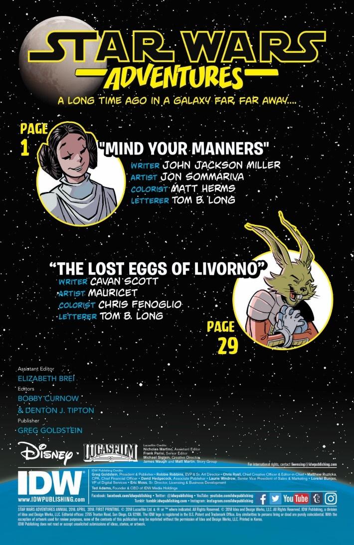 StarWars_Annual_2018-pr-2 ComicList Previews: STAR WARS ADVENTURES ANNUAL 2018