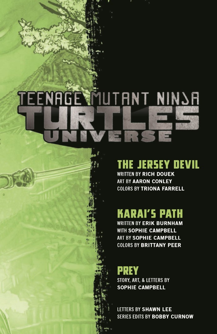 TMNTUniverse_v3-pr-3 ComicList Previews: TEENAGE MUTANT NINJA TURTLES UNIVERSE VOLUME 3 KARAI'S PATH TP