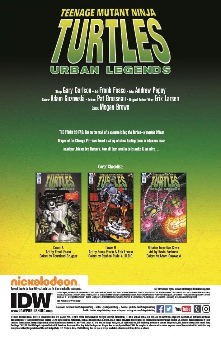 TMNT_Urban_Legends_11-PR-2 ComicList Previews: TEENAGE MUTANT NINJA TURTLES URBAN LEGENDS #11