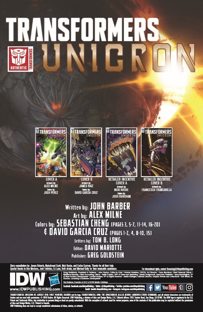 Transformers_Unicron_03-pr-2 ComicList Previews: TRANSFORMERS UNICRON #3