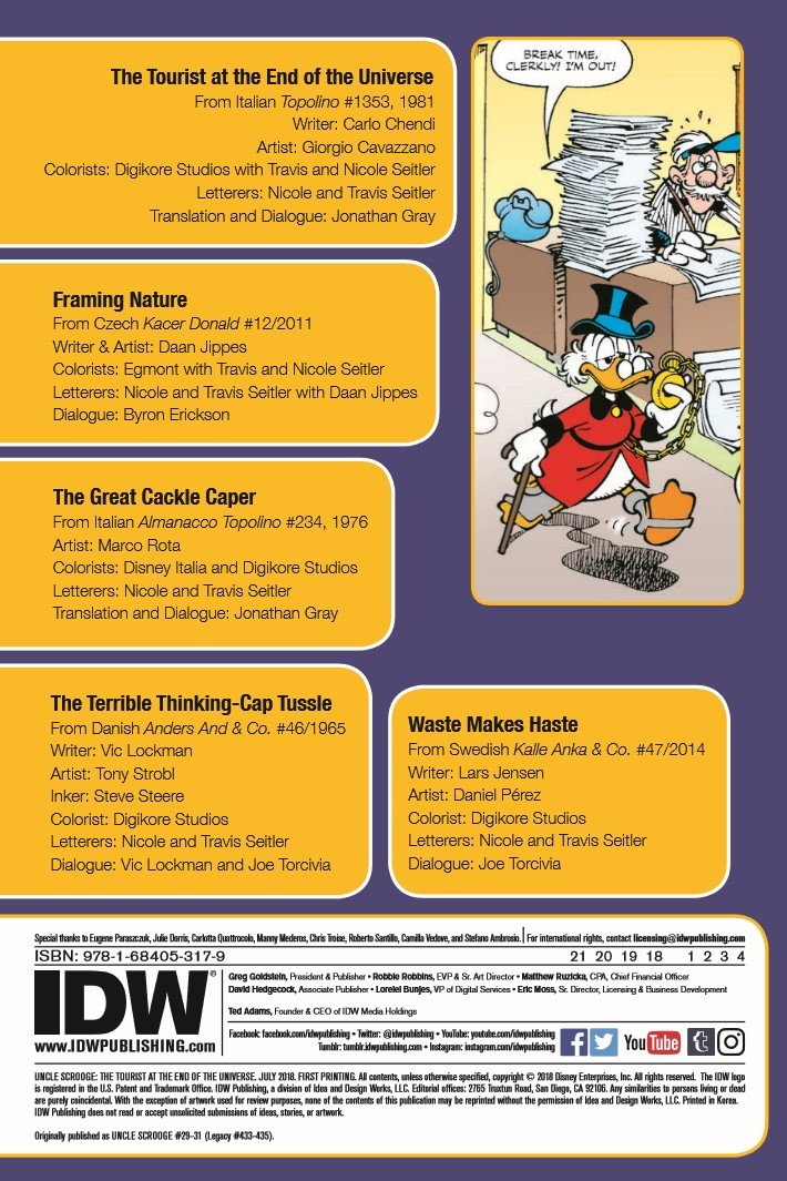 UncleScrooge_Tourist_at_end_of_Universe-pr-2 ComicList Previews: UNCLE SCROOGE THE TOURIST AT THE END OF THE UNIVERSE TP