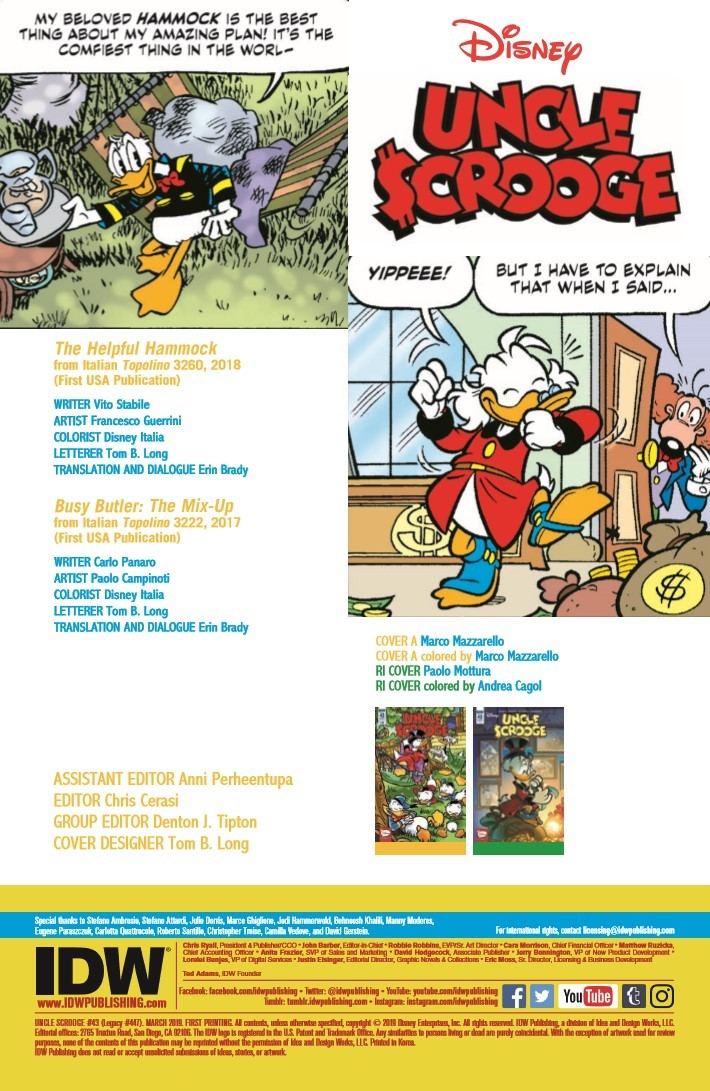 Uncle_Scrooge_43-pr-2 ComicList Previews: UNCLE SCROOGE #43