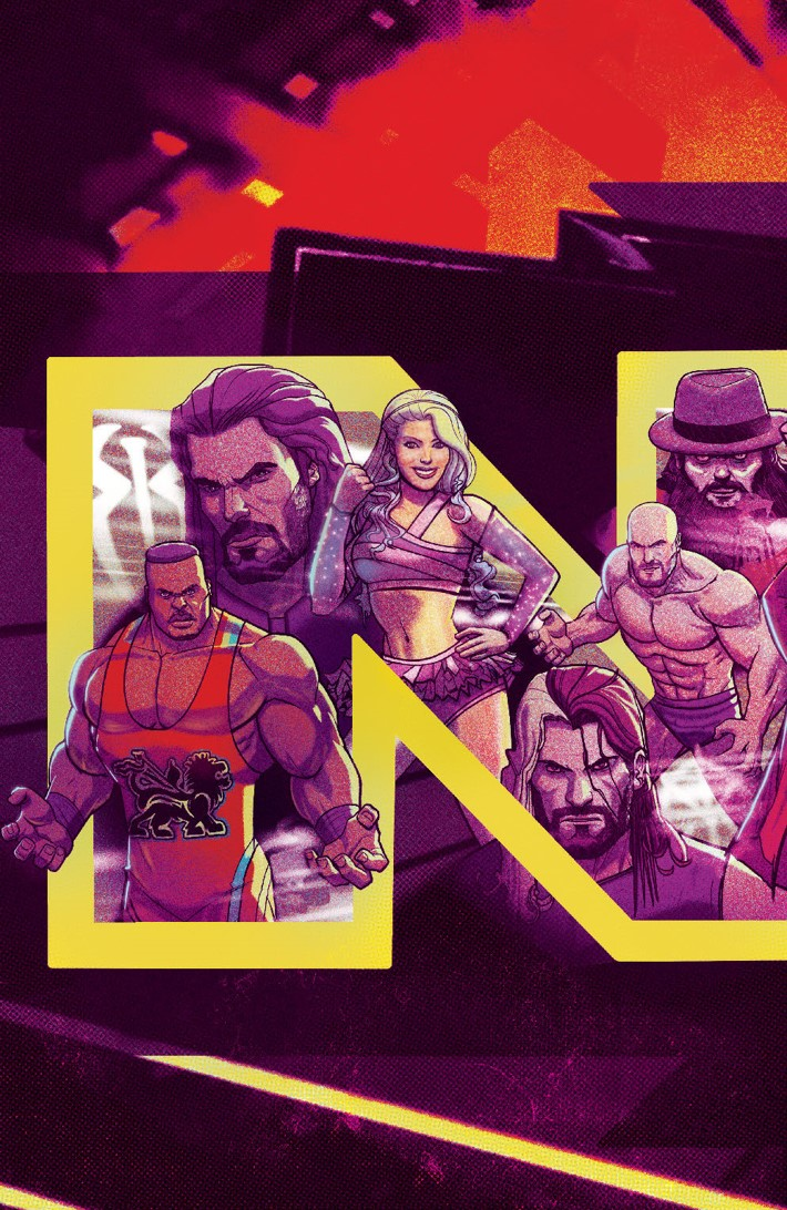 WWE_NXT_001_Blueprint_B_Subscription_ ComicList Previews: WWE NXT TAKEOVER THE BLUEPRINT #1