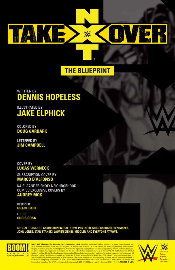WWE_NXT_001_Blueprint_PRESS_2 ComicList Previews: WWE NXT TAKEOVER THE BLUEPRINT #1