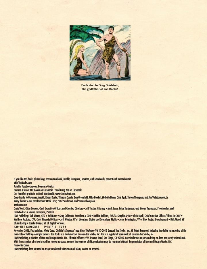 WeirdLove_v4-pr-2 ComicList Preview: WEIRD LOVE JAILBIRD ROMANCE HC