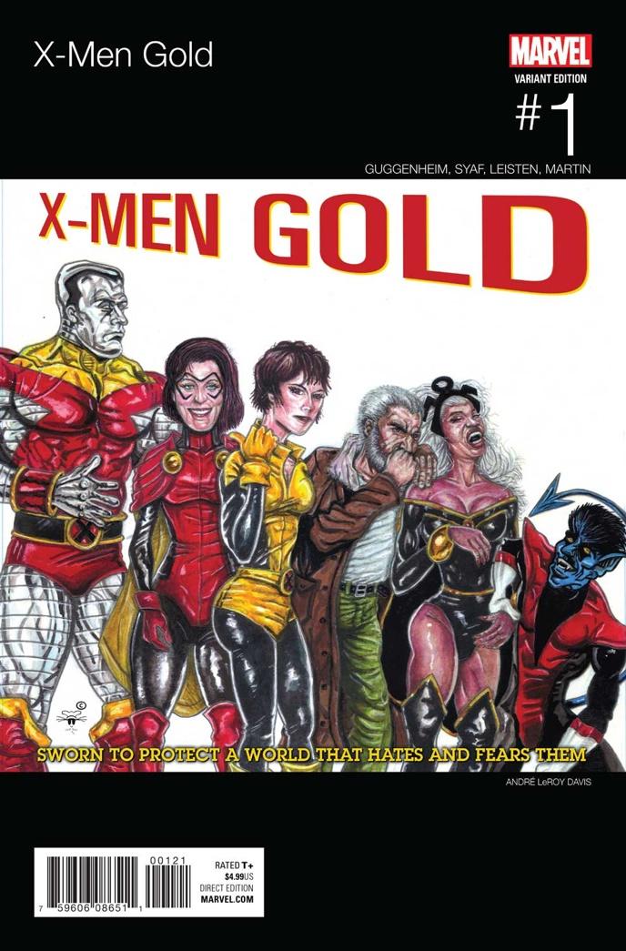X-Men_Gold_1_Davis_Hip-Hop_Variant ComicList Preview: X-MEN GOLD #1