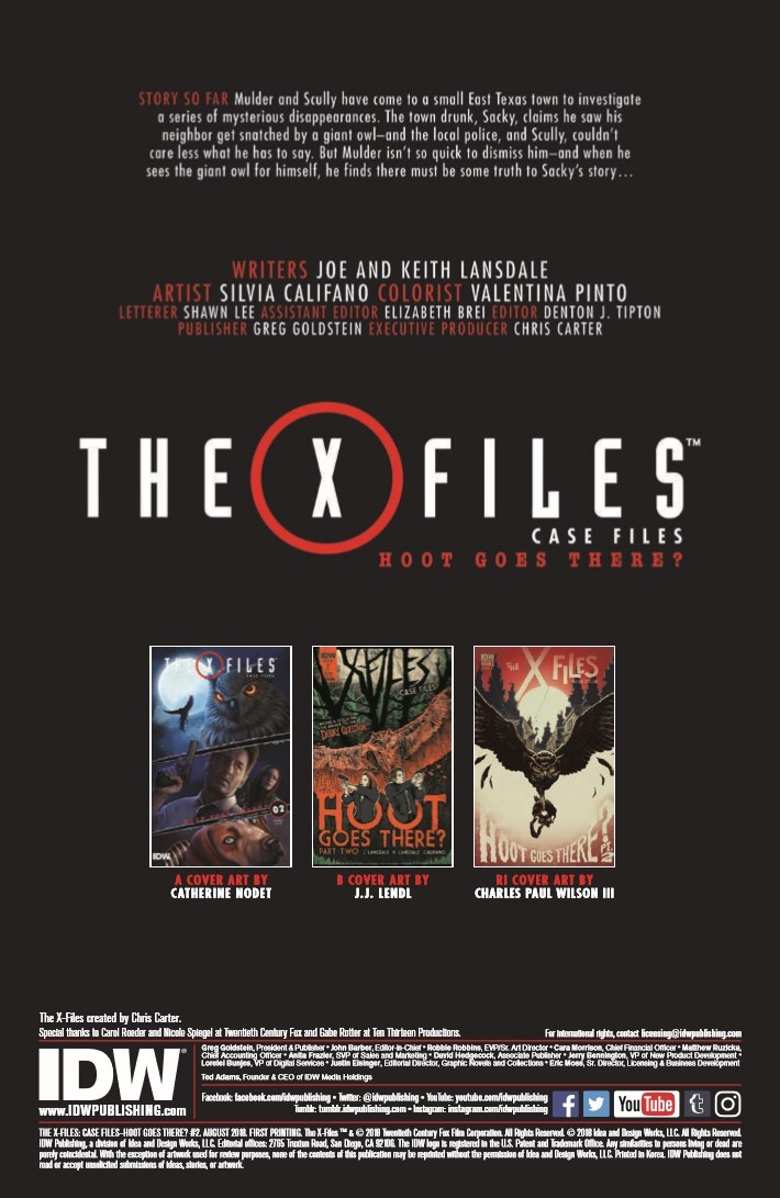 XFiles_case_Files_Hoot_Goes_There_02-pr-2 ComicList Previews: THE X-FILES CASE FILES HOOT GOES THERE #2