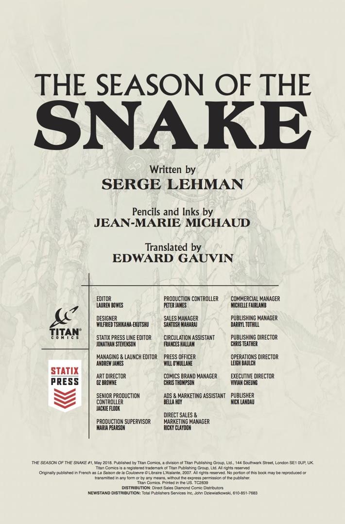 season_of_the_snake_1_Credits ComicList Previews: SEASON OF THE SNAKE #1