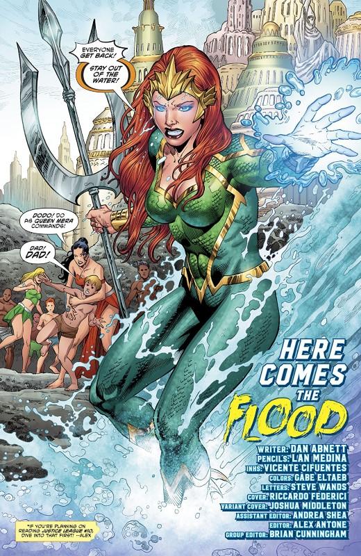Aquaman #41 art by Lan Medina, Vicente Cifuentes, and Gabe Eltaeb