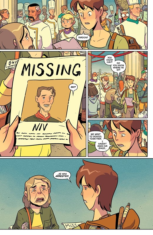 Flavor #6 art by Wook Jin Clark, Tamra Bonvillain, and letterer Ariana Maher