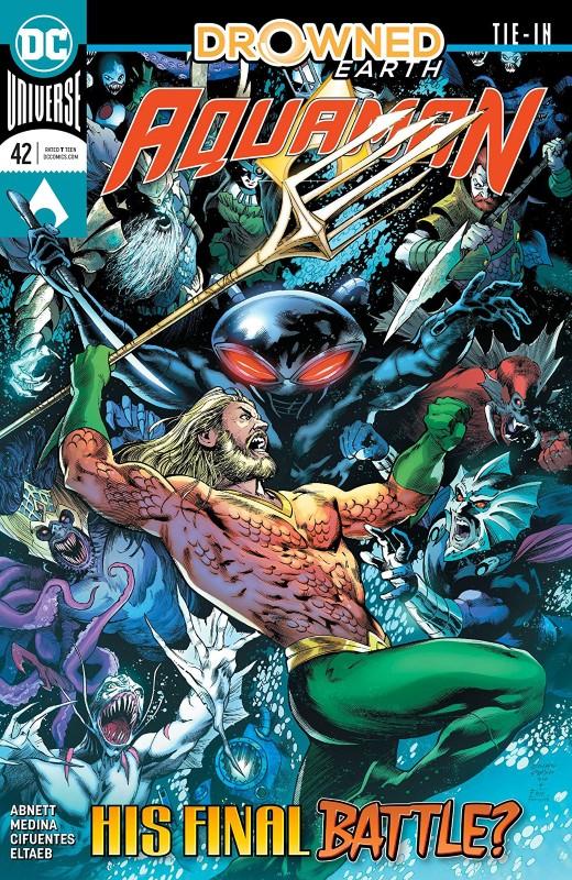 Aquaman #42 cover by Eduardo Pansica, Eber Ferreira, and Adriano Lucas
