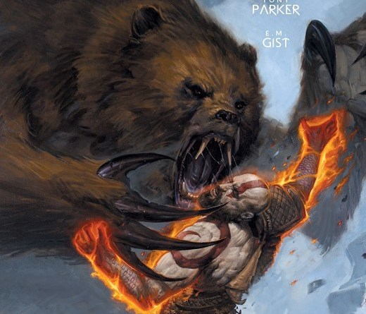 God of War #1 cover by E.M. Gist