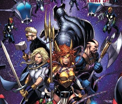 Asgardians of the Galaxy #4 cover by Dale Keown and Jason Kieth