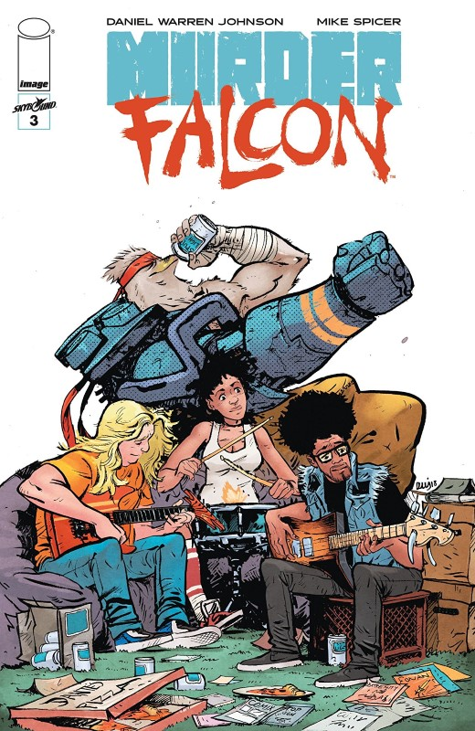 Murder Falcon #3 cover by Daniel Warren Johnson and Mike Spicer