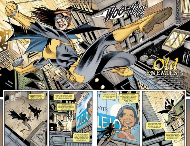 Batgirl #30 art by Paul Pelletier, Norm Rapmund, Jordie Bellaire, and letterer Deron Bennett