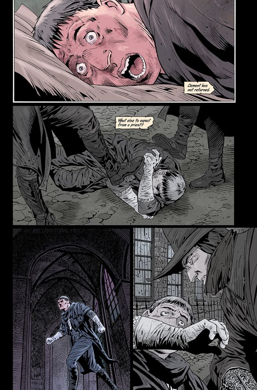Bloodborne #8 art by Piotr Kowalski, Brad Simpson, and letterer Aditya Bidikar