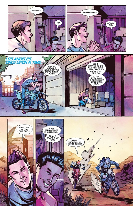 Iceman #5 art by Nathan Stockman, Andres Mossa, Federico Blee, and letterer VC's Joe Sabino