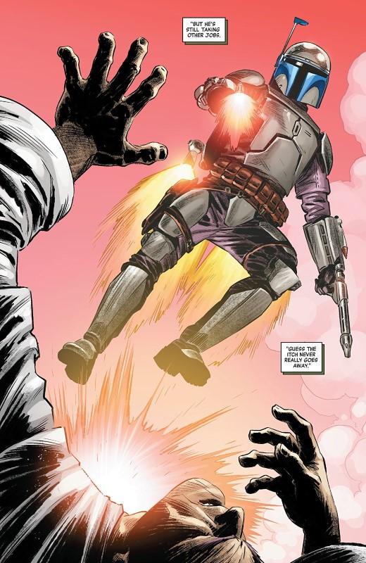 Star Wars Age of Republic: Jango Fett #1 art by Luke Ross, Java Tartaglia, and letterer VC's Travis Lanham