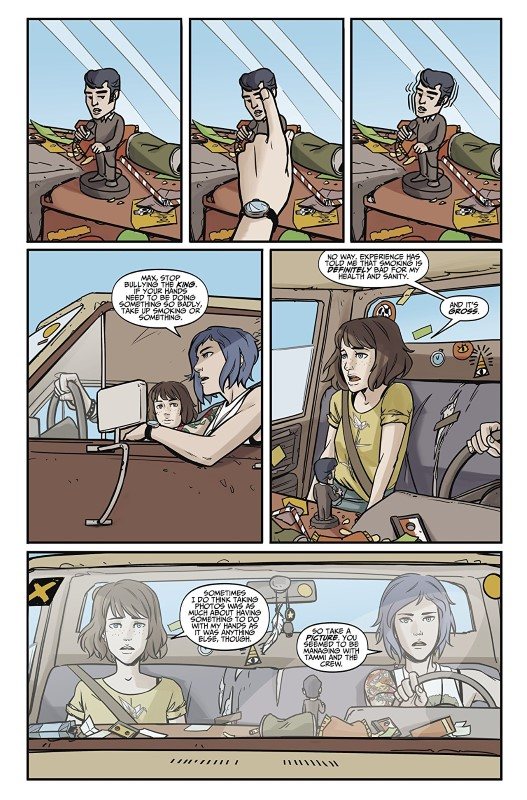 Life is Strange #2 art by Claudia Leonardi, Andrea Izzo, and letterers Richard Starkings and Comicraft's Jimmy Betancourt