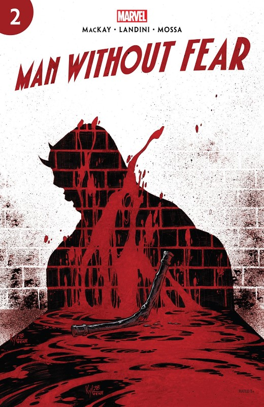 Man Without Fear #2 cover by Kyle Hotz and Dan Brown