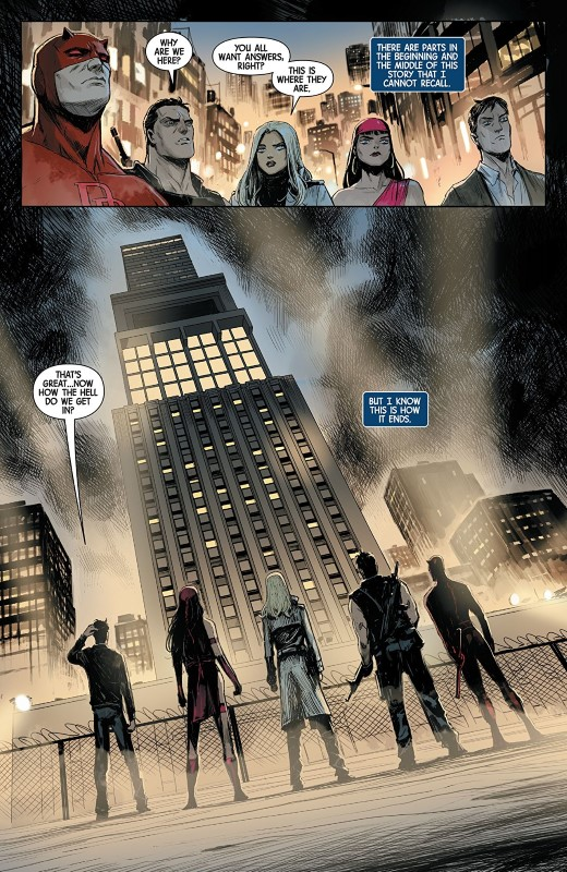 Marvel Knights 20th #5 art by Niko Henrichon, Laurent Grossat, and letterer VC's Cory Petit